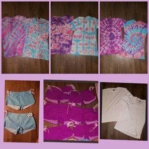 NEW 8 sets 16 items shorts+tees PJ sets M+L